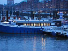 Die Flussschifferkirche im Hamburger Hafen