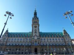 Hamburg Rathaus Frontpanorama